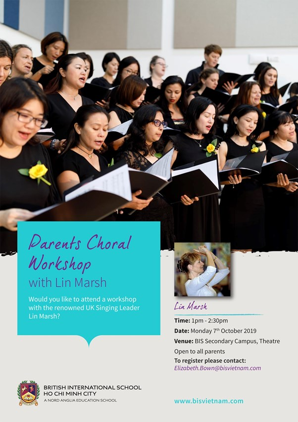 BIS_Parents Choral Workshop with Lin Marsh - Monday 7th October