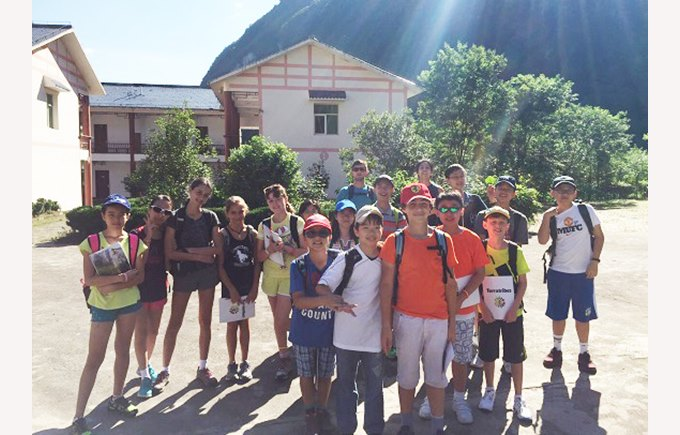 Year 6 and 7 in Getu Valley, China.