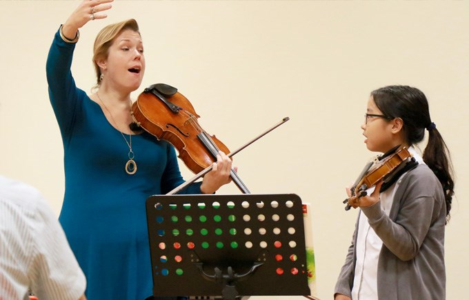Jessica Meyer Juilliard Curriculum Specialist and Violinist visits Dover Court International School