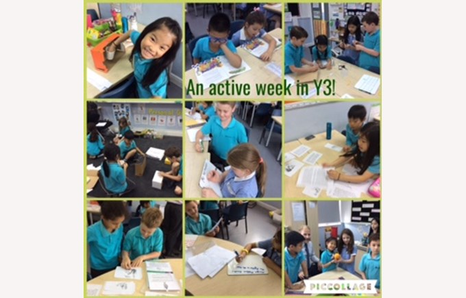 An active week in Year 3