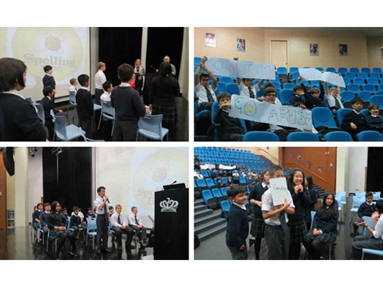 Year 7s from BISS Puxi take part in the annual Spelling Bee