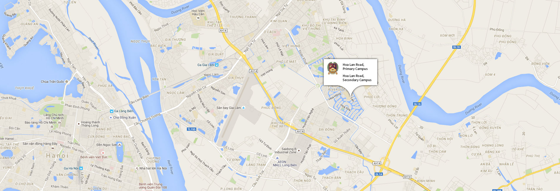 A map of our campus locations