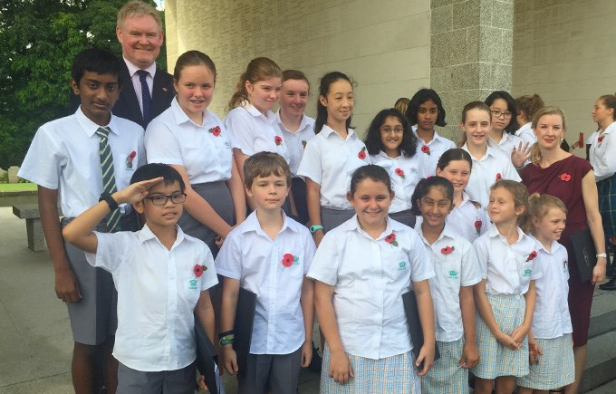 DCIS Choir at Remembrance Sunday, Kranji War Memorial