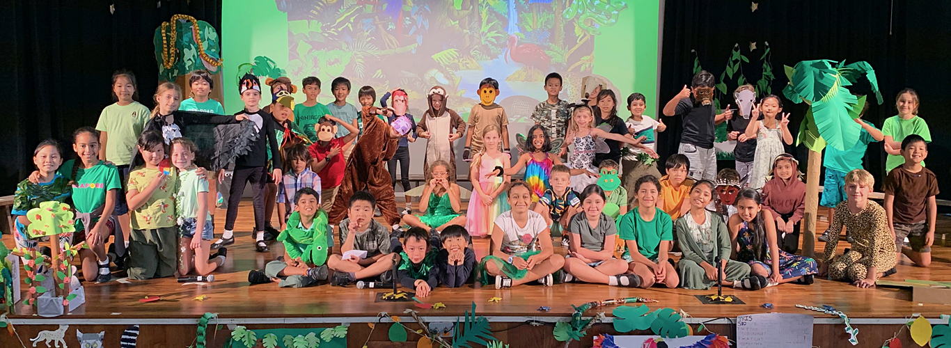 Upper Primary Assembly - Rainforest by 4CS 4BS 4VF