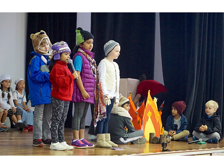 Lower Primary School Assembly Performance Bonfire Night by 2AV and 2TH