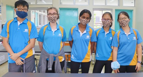 DCIS Year 11 Students PP Mask Making Project