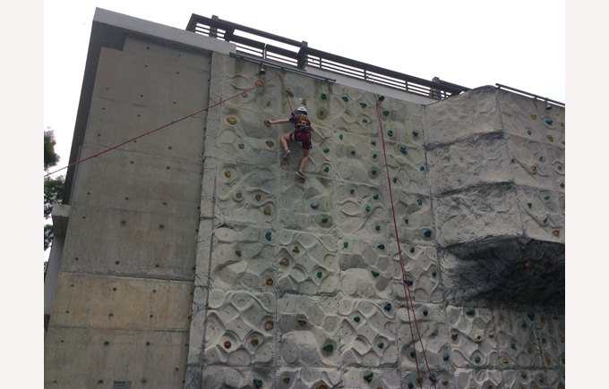 Year 4s scaling the walls in Lantau Island