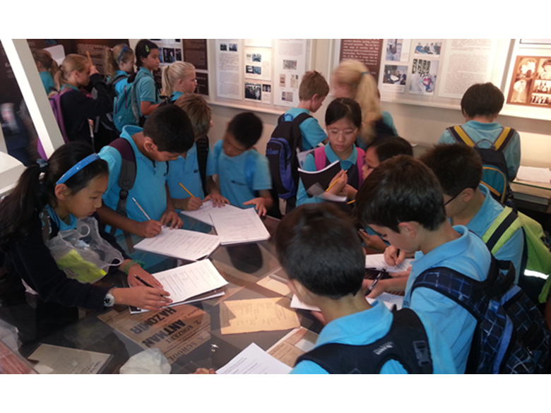 Students at the British International School Shanghai, Puxi visit the Jewish Refugee Museum