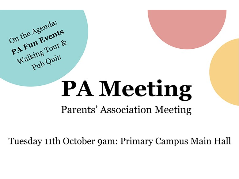 PA Meeting 11th October