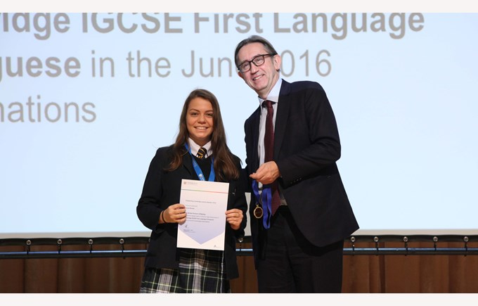 Laura IGCSE Highest mark in China