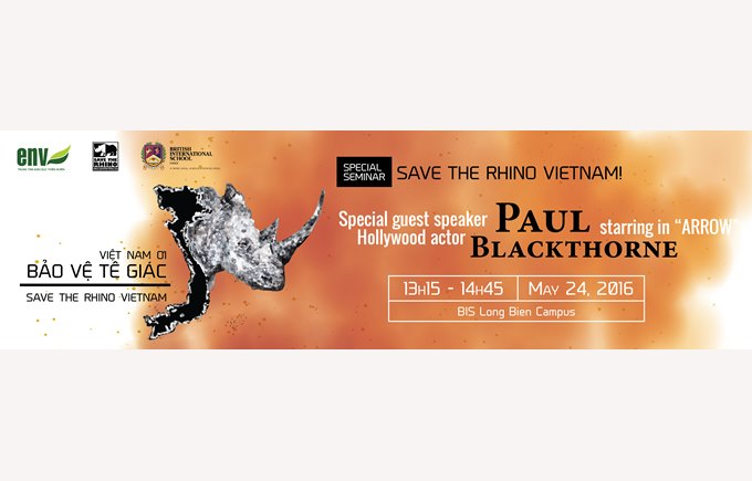 British International School Hanoi Secondary save the rhino