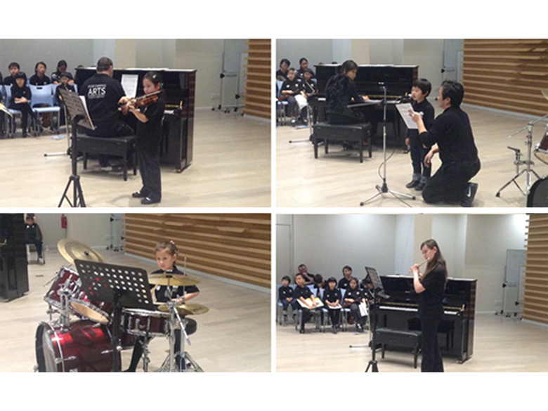 Students at the British International School Shanghai, Puxi perform at our termly Soloists' Recital