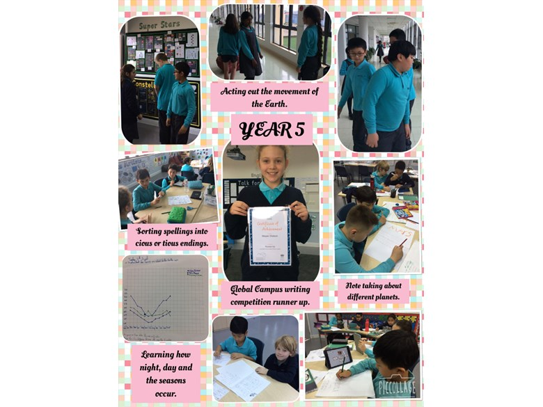 Year 5's week of learning