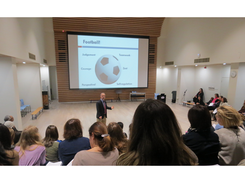 Clive Leach talks to parents about the importance of mindfulness, flourishing and a range of other topics from the increasing body of modern research into positive psychology and well-being.