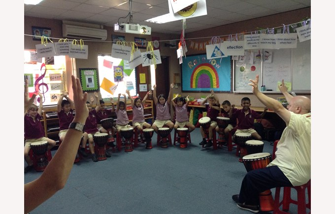 Drumming workshop with UK percussionist Andy Gleadhill 1