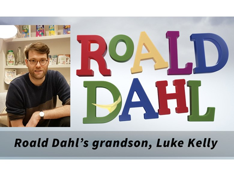 Roald Dahl's grandson Luke Kelly 2017