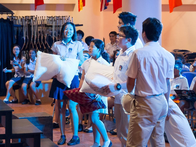 Students at the British International School in Ho Chi Minh City chose to focus on establishing good sleep habits