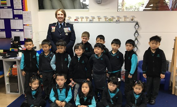 Reception students meet a real-life hero