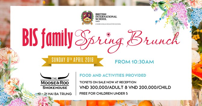 british international school hanoi spring brunch