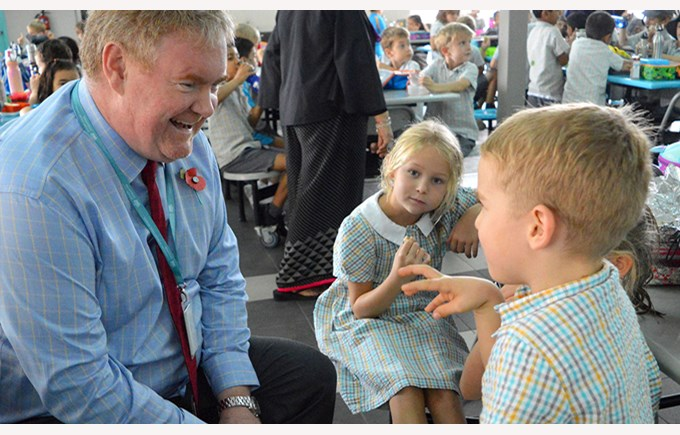 Christopher Short at Primary School Lunch 2016