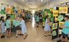 Year 1 & 2 students at the British International School Shanghai show off their best art work this year