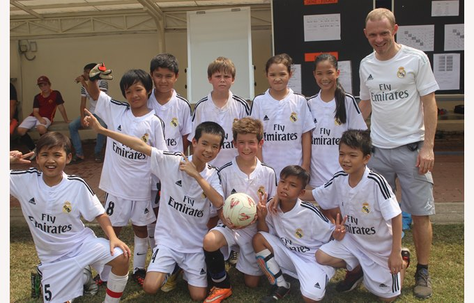 Community Football Tournament with Binh An school, Real Madrid team