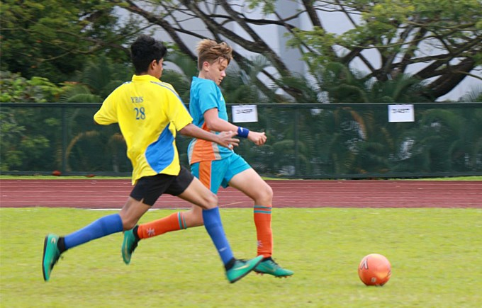 Dover Court International School, Singapore. Football Under 14 Boys vs YBIS