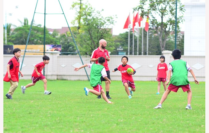 British International School Hanoi Primary grass play field