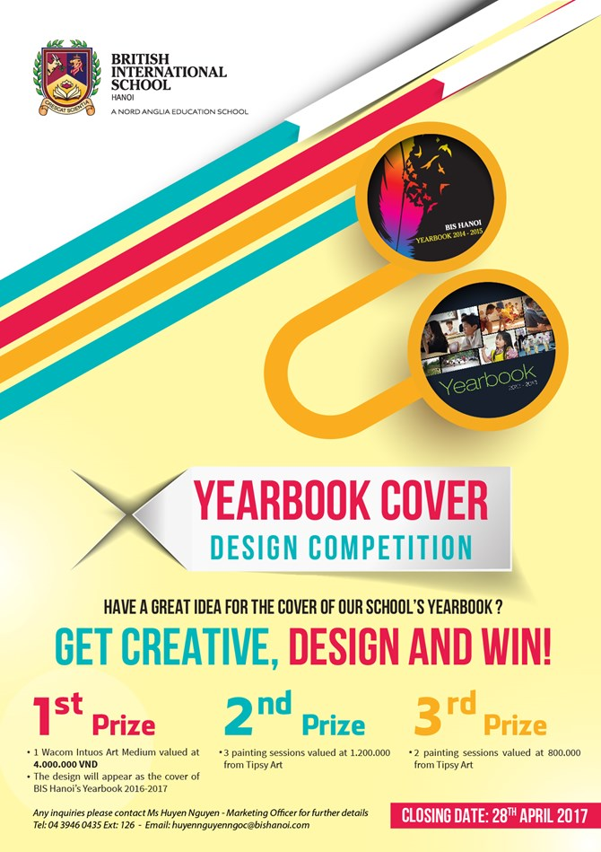 British International School Hanoi Yearbook cover design competition