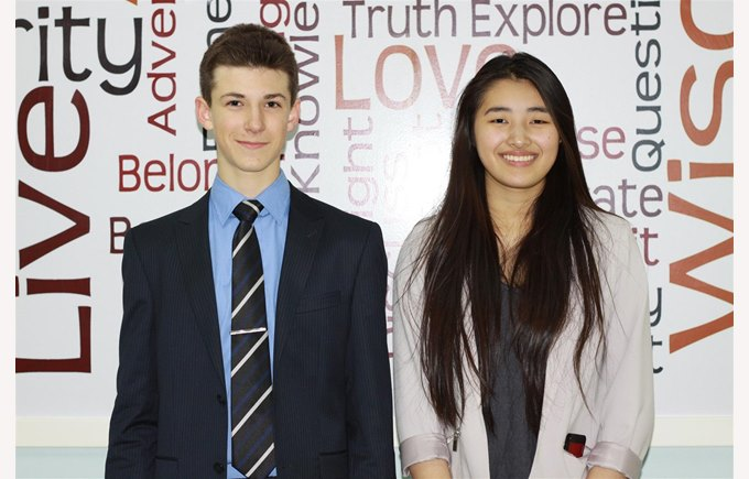 Academic Committee-Chair Amy Wei &  Vice Chair Josh Nestler (left) (web)