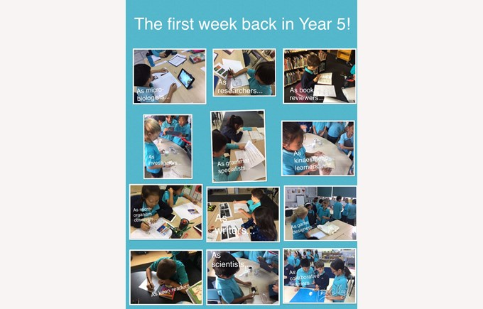 The first week back in Year 5