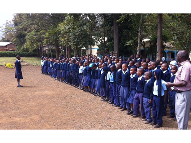 Mr Foyle visiting the Maua primary school that Nord Anglia Education is helping