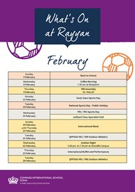 What's on February Rayyan