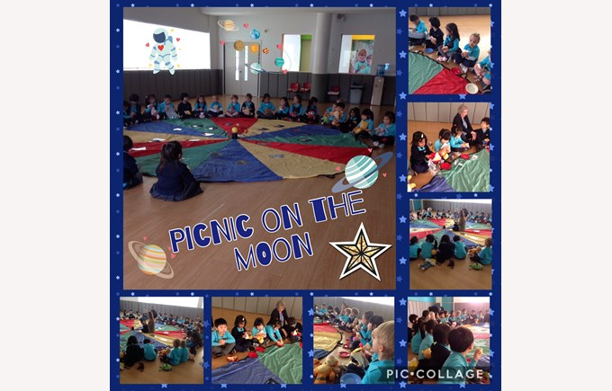 Reception Picnic on the Moon