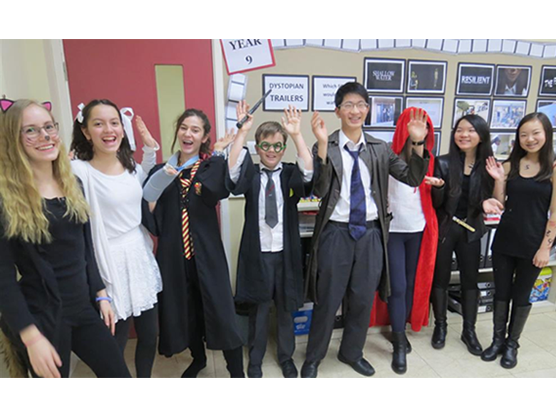 Secondary students and teachers at the British International School Shanghai, Puxi celebrate World Book Day by coming to school dressed as their favourite literary character
