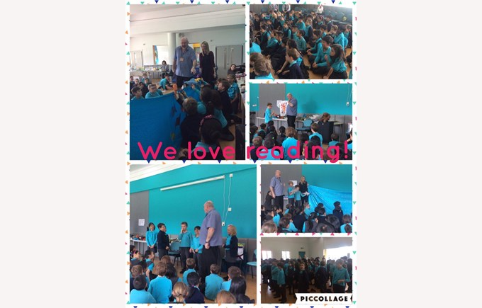 Year 4 spend time with author Neil Griffiths