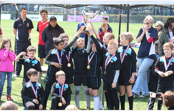 Our Under 9 Rugby team victorious at the End of Season tournament