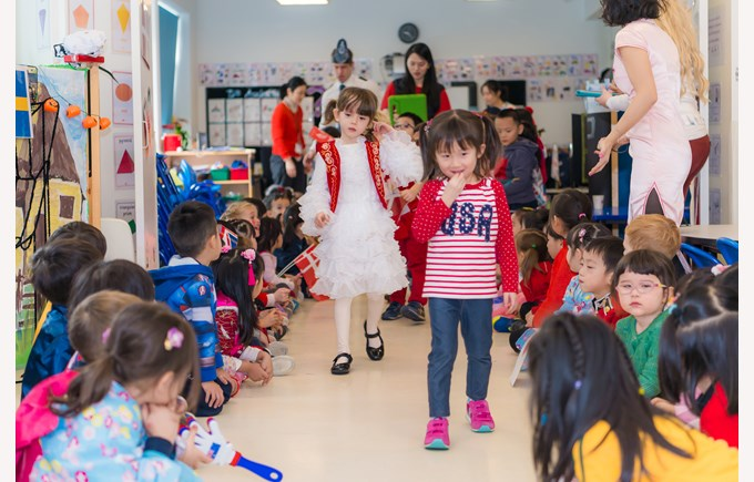 Reception costume parade
