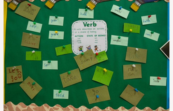 Learning wall of verbs for EAL