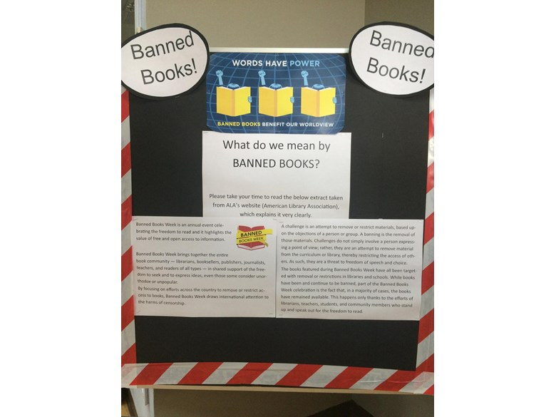 Primary Library Banned Book Week This week is Banned Book Week; It's a global event that celebrates the freedom to read and v