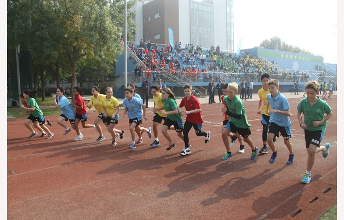 Secondary Sports Day - Starting Line