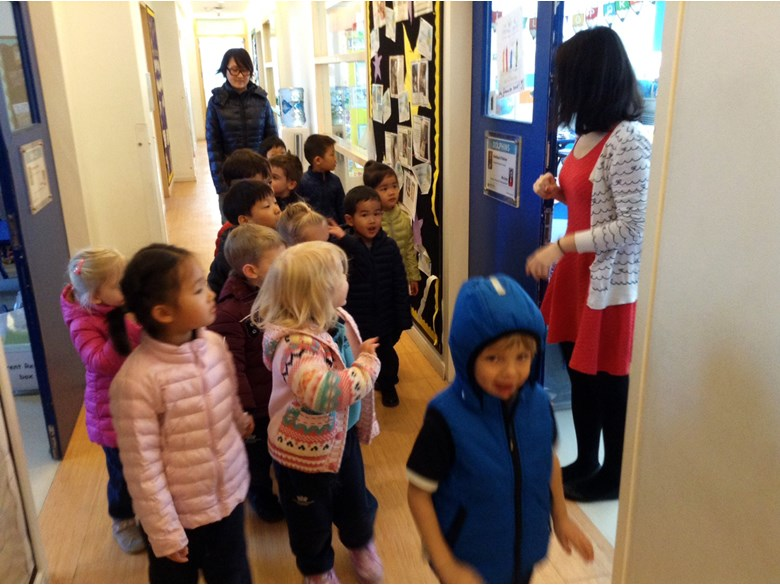 Nursery visiting Primary Campus