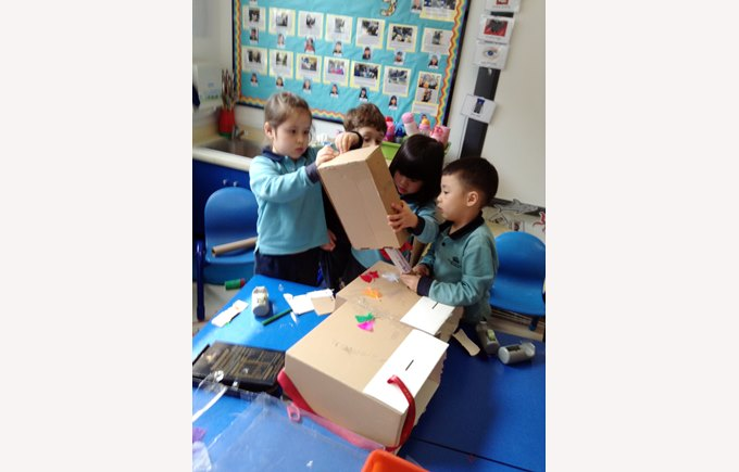 Reception creating dinosaurs