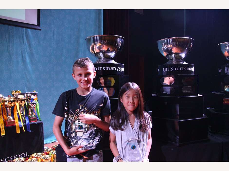 U9 Sportsman/woman of the Year 2015: Samuel Mikhail, Isabella Song