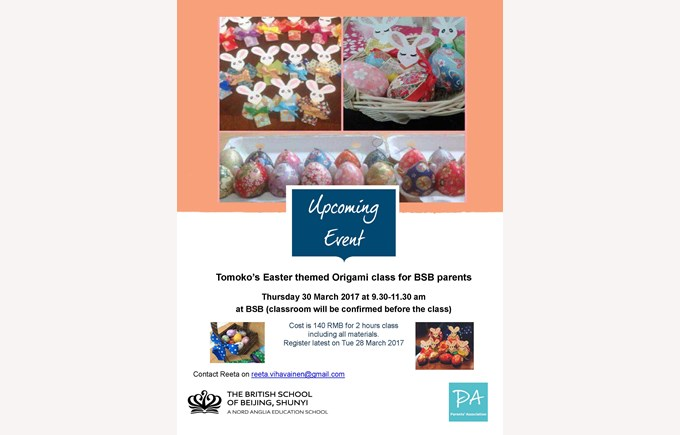 20170330 PA Easter themed Origami Class