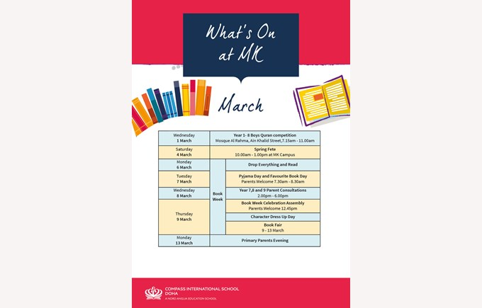 What's on MK in March