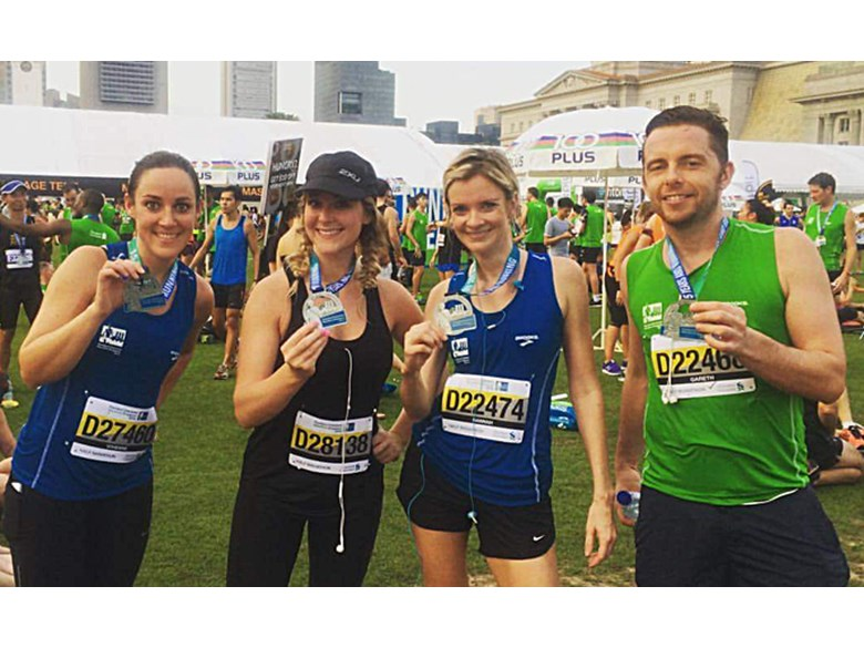 DCIS Staff run in Singapore Marathon