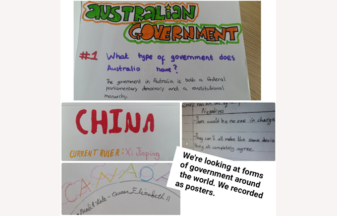Year 6 learn about forms of government