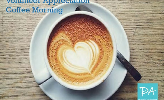 PA Volunteer Appreciation Coffee Morning, Monday, 12th March