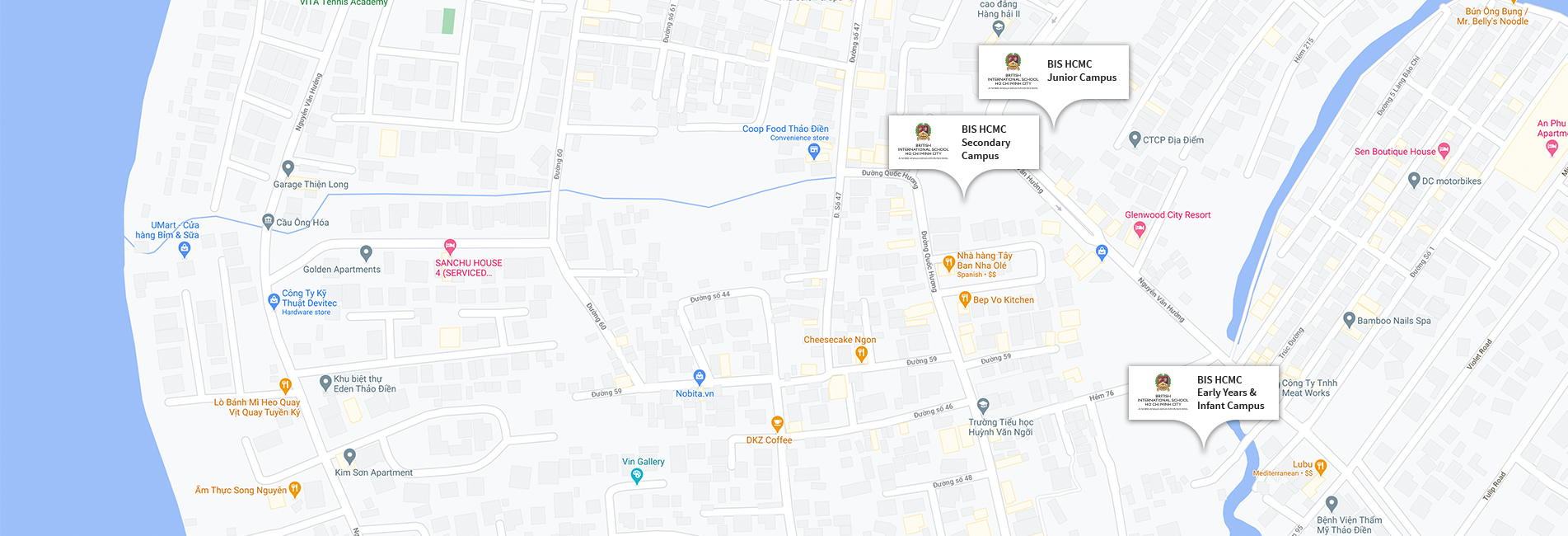 British International School Ho Chi Minh City Map